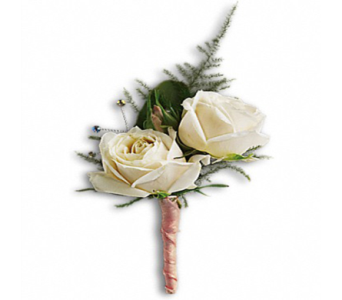 White Tie Boutonniere in Indianapolis IN, George Thomas Florist