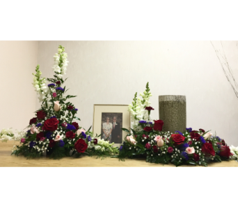 Memorial Arrangement and Wreath in Wyoming MI, Wyoming Stuyvesant Floral