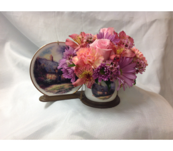 Thomas Kincade Tea Cup and Saucer in Fairfield OH, Novack Schafer Florist