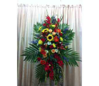 Custom Colorful Spray in Orange CA, Main Street Florist