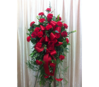 Custom Red Spray in Orange CA, Main Street Florist