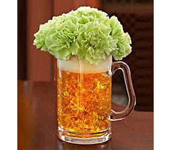 Green Beer Mug of Blooms in Guelph ON, Patti's Flower Boutique