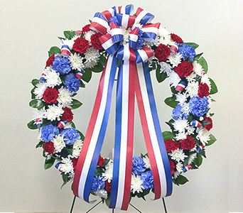 Red, White & Blue Wreath in Fairfax VA, Greensleeves Florist