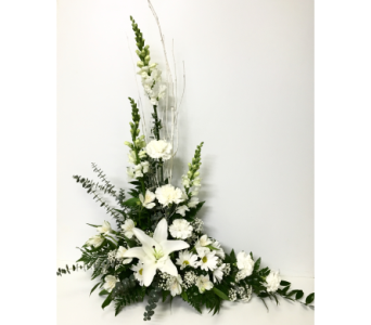 White Styled Floral Arrangement in Wyoming MI, Wyoming Stuyvesant Floral