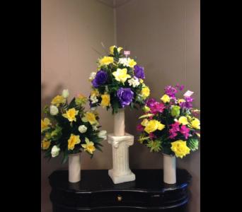 Silk memorial collection delivery creedmoor nc gil man florist inc cemetery vase in creedmoor nc gil man florist inc mightylinksfo