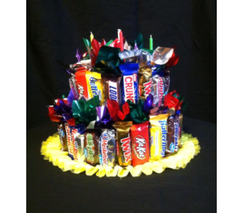 Candy Bar centerpiece in New Iberia LA, Breaux's Flowers & Video Productions, Inc.