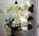white 3 rose corsage in Sitka AK, Bev's Flowers & Gifts