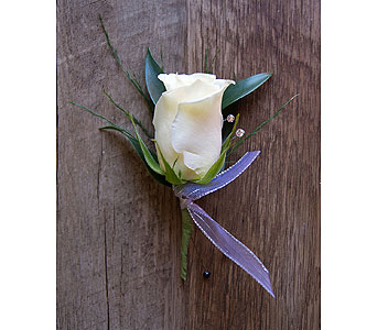 Classy Rose Boutonniere in Muskegon MI, Wasserman's Flower Shop