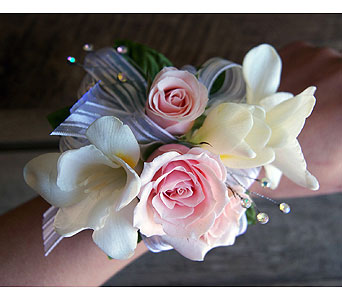 Fresh Freesia Corsage in Muskegon MI, Wasserman's Flower Shop