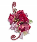 4 rose glitter corsage in Sitka AK, Bev's Flowers & Gifts