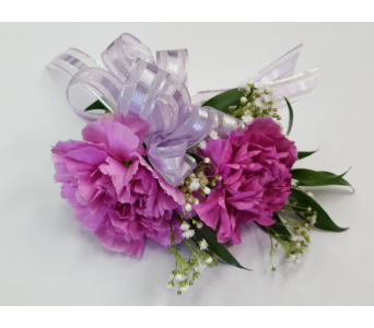 Double Carnation Wristlet in Rockledge PA, Blake Florists