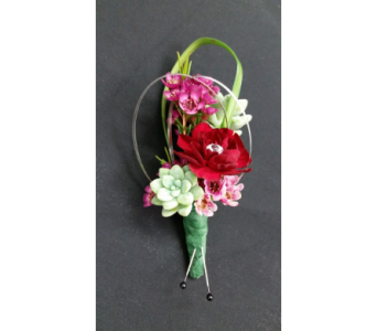 Glitzy Succulent Boutonniere in Rockledge PA, Blake Florists