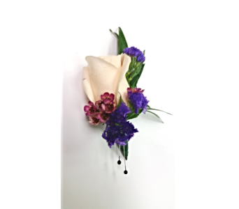 Springy Purples Boutonniere in Rockledge PA, Blake Florists