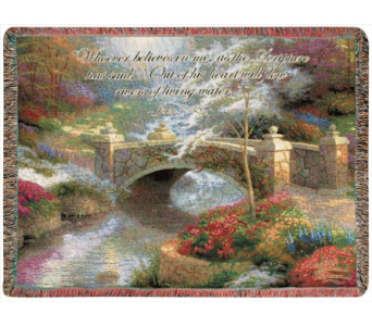 Thomas Kinkade Afghan in Huntington IN, Town & Country Flowers & Gifts