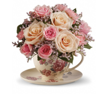 Victorian Teacup Bouquet in Winston Salem NC, Sherwood Flower Shop, Inc.