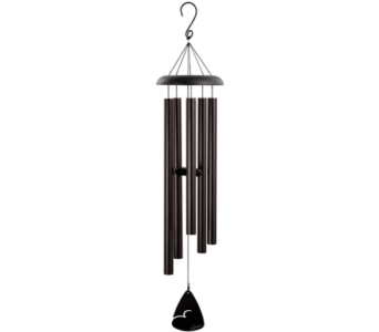 Carson 44 in. Black Fleck Wind Chime in Indianapolis IN, George Thomas Florist