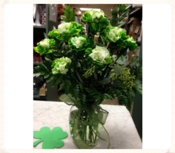 Doz. Green Carnations Arranged in Baltimore MD, Gordon Florist