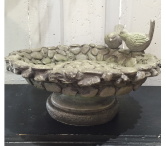 Pebble Bird Bath/Feeder in Stephens City VA, The Flower Center
