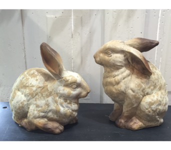 Terracotta Rabbits in Stephens City VA, The Flower Center