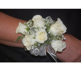 Roses prom wristlet in Scarborough ON, Helen Blakey Flowers