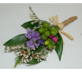 Wild boutonniere in Scarborough ON, Helen Blakey Flowers