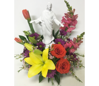 With Grace Memorial Arrangement in Wyoming MI, Wyoming Stuyvesant Floral