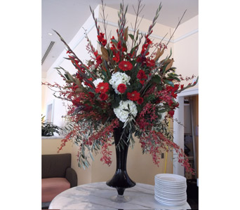 Burst of Red in Campbell CA, Citti's Florists