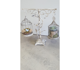 Double Birdcage on Stand in Frisco TX, Patti Ann's Flowers