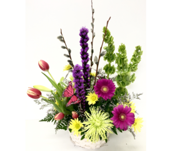 Blooms of Spring Basket -  Designed All Around in Wyoming MI, Wyoming Stuyvesant Floral
