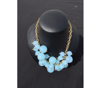 Light Blue Bubble Necklace in Virginia Beach VA, Fairfield Flowers