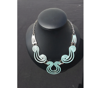 Aqua Swirl Necklace in Virginia Beach VA, Fairfield Flowers