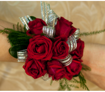 Red Mini Rose Corsage in Merrick NY, Feldis Florists