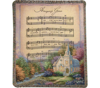 Amazing Grace Music Woven Throw in Tipp City OH, Tipp Florist Shop