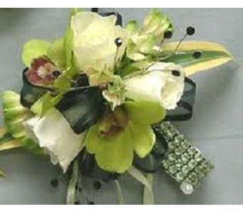 Green Orchid Wristlet in Campbell CA, Citti's Florists