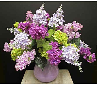Vase of Lilacs in Amherst NY, The Trillium's Courtyard Florist