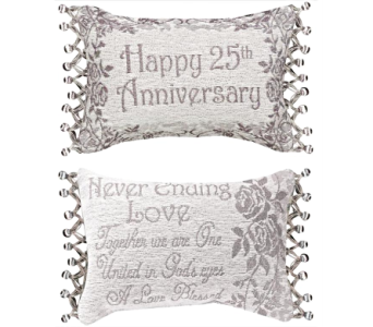 Throw Pillow - 25th Anniversary in East McKeesport PA, Lea's Floral Shop