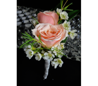 Pink Spray Rose Boutonniere  in Greenville SC, Expressions Unlimited