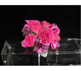 Pink Spray Rose Corsage in Greenville SC, Expressions Unlimited