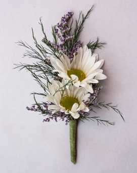 Daisy Day Boutonniere in Crystal Lake IL, Countryside Flower Shop