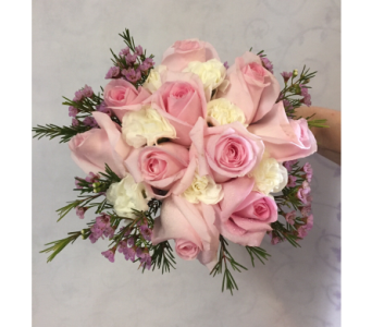 Hand-Tied Pink & White in Philadelphia PA, Schmidt's Florist & Greenhouses