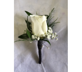 Rose Boutonniere With Wrapped Stem in Philadelphia PA, Schmidt's Florist & Greenhouses