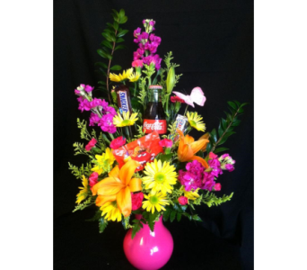 Brite Spring with coke & Candy in New Iberia LA, Breaux's Flowers & Video Productions, Inc.