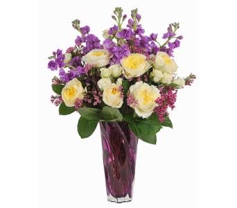 Purple Elegance in Madison WI, Felly's Flowers