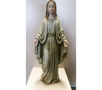 Blessed Mother in Green in Sterling Heights MI, Sam's Florist