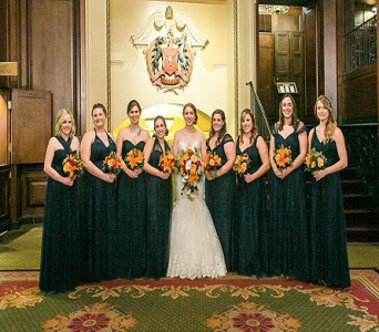 Bride and her Maids in Watertown CT, Agnew Florist