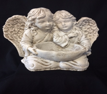 Two Angels with Bowl in Amelia OH, Amelia Florist Wine & Gift Shop