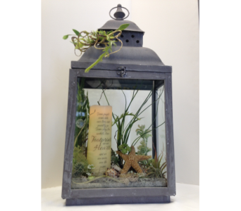 LANTERN WITH CANDLE in Crafton PA, Sisters Floral Designs