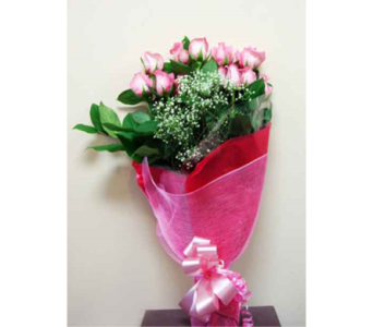 Dozen Short Stem Pink Roses in Thornhill ON, Green Florist