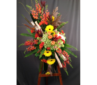 Autumn Standing Spray in Bowmanville ON, Van Belle Floral Shoppes
