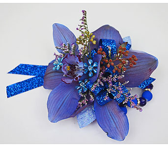 Glittering Blue Orchid in Indianapolis IN, Gillespie Florists